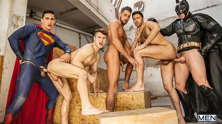 Photo of Batman Vs Superman: A Gay XXX Parody Part 3 – Allen King, Dario Beck, Massimo Piano, Topher Di Maggio & Trenton Ducati