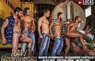 LucasEntertainment - Raw Roughnecks - Jacen Zhu bottoms for Alejandro Castillo, Alex Kof, Mario Domenech and Viktor Rom