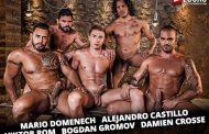 Lucas Entertainment - Seriously Hard Fucking - Alejandro Castillo, Viktor Rom, Bogdan Gromov, Mario Domenech and Damien Crosse - Bareback Orgy