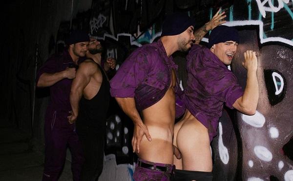 Photo of Cockyboys – Bruce Labruce's Purple Army Faction – Arad WinWin, Dato Foland, Francois Sagat & Levi Karter