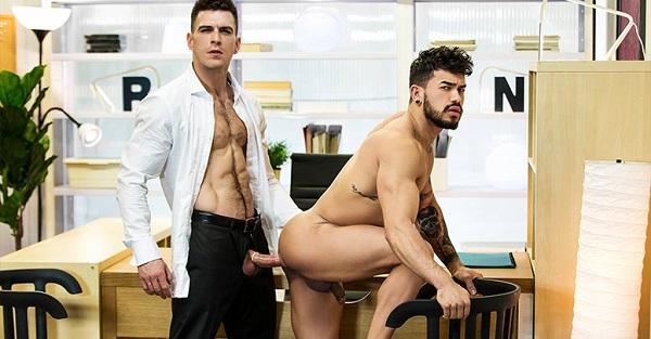 Photo of The Gay Office – The Boss Part 1 – Paddy O'Brian fucks Pietro Duarte