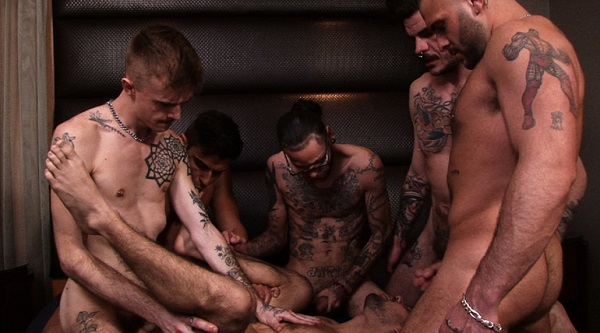 Photo of TimFuck – Ty Mitchell Gangbang – Bareback