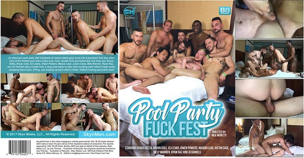 Photo of SkynMen – Pool Party Fuck Fest – Filme Gay Completo